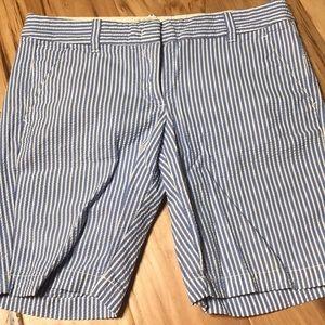 J. Crew seersucker Bermuda shorts Sz 2